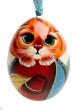 """Елочная игрушка """"Кот"""" Дерево, роспись, лак Ручная работа ручная работа Автор М Иванова артикул 13660f."""